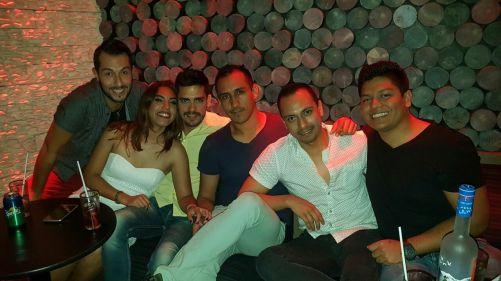 Alfredo Paredes. Amigos en Cancun