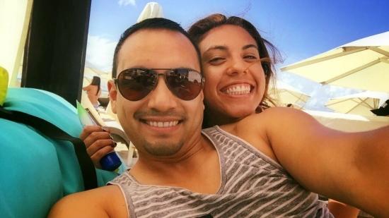 Amigos en Playa del Carmen
