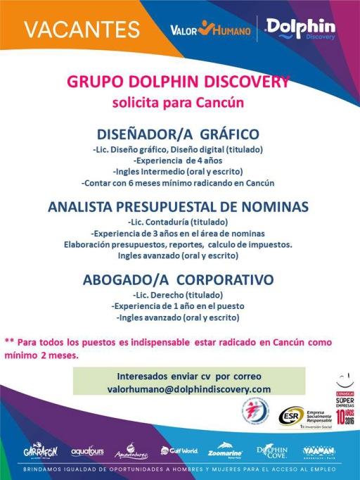 Empleo en Cancún - Dolphin Discovery