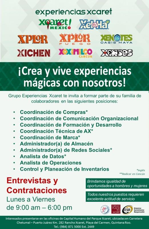 Empleo en Cancún - Xcaret